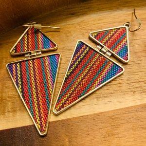 Hippy love triangle earrings
